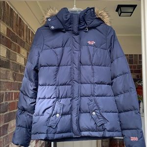 Navy Hollister winter coat